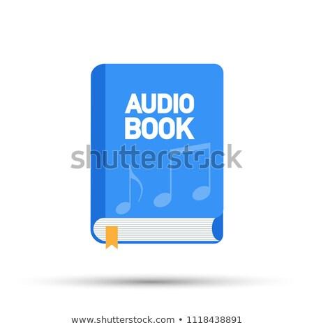 Vektor Audio Buch Bildung Literatur Stock foto © TarikVision