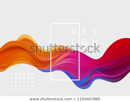 Stock photo: Abstract colorful vector background, color flow liquid wave for design brochure, website, flyer.