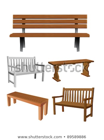 vector set of bench stock photo © olllikeballoon