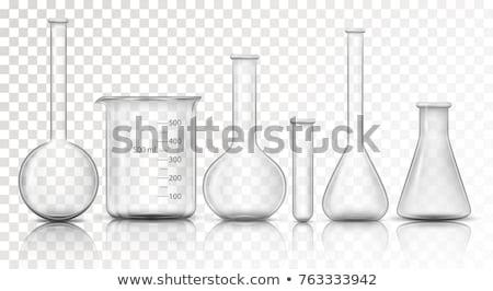 Vektor szett laboratórium üvegáru oktatás tudomány Stock fotó © olllikeballoon