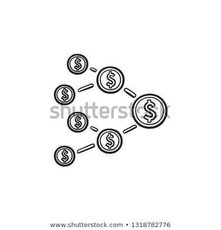 Affiliate marketing network hand drawn outline doodle icon. Stock photo © RAStudio