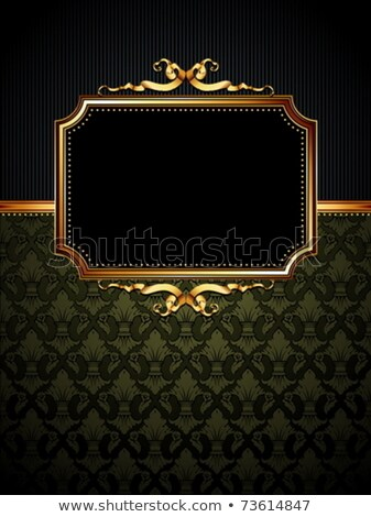 golden ornate frame with shield stock photo © smeagorl