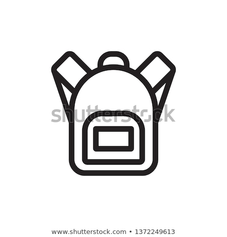 flat design icon of camping backpack stock photo © angelp