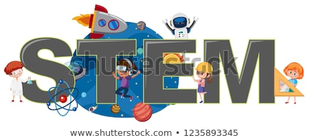 Kid Stem Rocket Illustration Stock photo © lenm