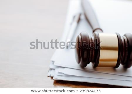 tokmak · adalet · ölçek · büro · ahşap - stok fotoğraf © andreypopov