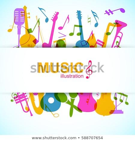フレーム テンプレート 楽器 実例 音楽 背景 ストックフォト © colematt