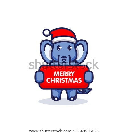 Vidám karácsony mikulás kalap elnyűtt állat Stock fotó © robuart