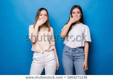 Cute jeunes asian belle femme posant isolé Photo stock © deandrobot