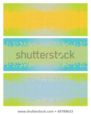 аннотация геометрический квадратный Пиксели мозаика вектора Сток-фото © ESSL