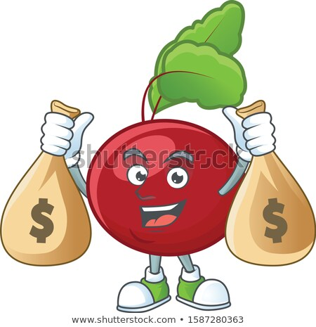 Green Money Bag with Coins and Branches Vector Stock photo © robuart