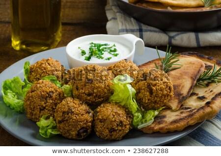 falafel with garlic dip stock photo © barbaraneveu