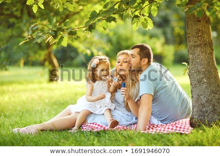 happy family together on autumn picnic stock photo © dashapetrenko