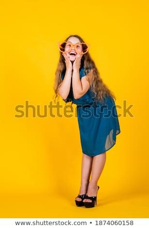 緑 服 眼鏡 セット 少女 デジタル ストックフォト © toyotoyo