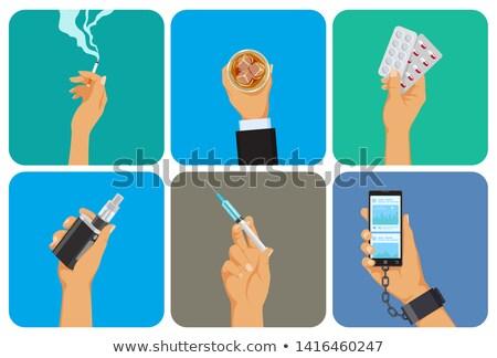 palenia · papierosów · ikona · wektora · drewna - zdjęcia stock © marysan