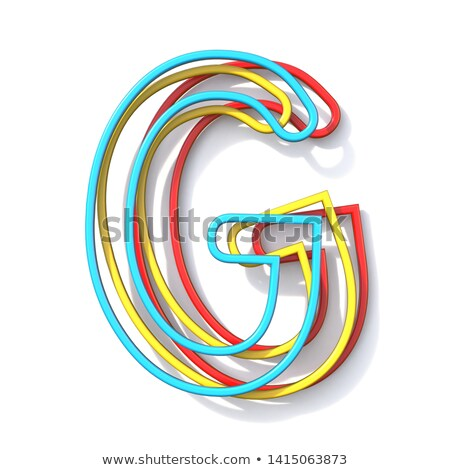 three basic color wire font letter g 3d stock photo © djmilic
