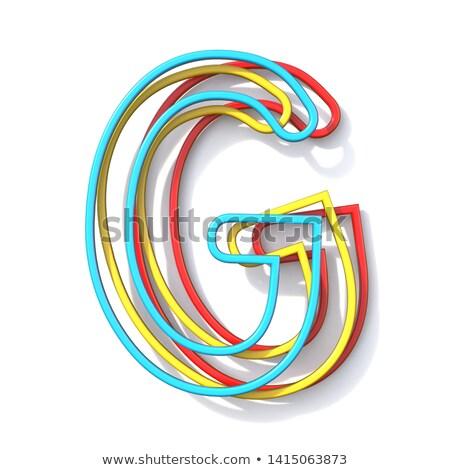 3  基本 色 線 フォント 文字g ストックフォト © djmilic