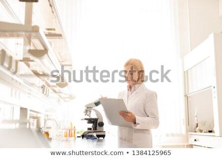 Naukowiec informacji eksperyment poważny zajęty dojrzały Zdjęcia stock © pressmaster