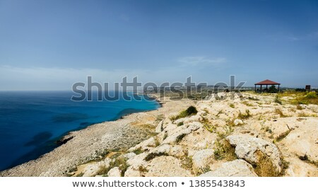 Mooie panorama foto's Cyprus bergen zee Stockfoto © ruslanshramko