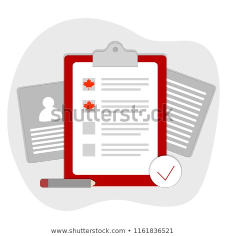 Visa Application List Of Paper Clipboard Vector Stock photo © pikepicture