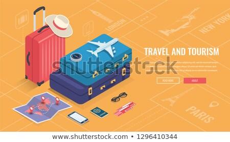 Vakantie asia toeristen zakken web vector Stockfoto © robuart