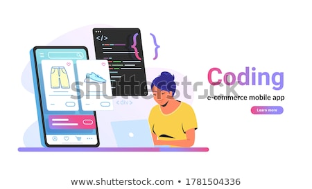 Shopping Development and Coding Laguages Vector Stock photo © robuart