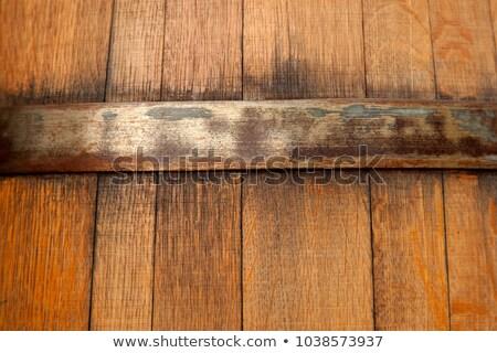 Vecchio legno barile metal dettaglio Foto d'archivio © boggy