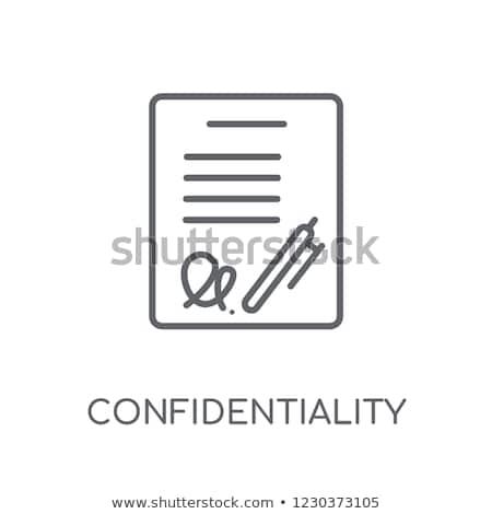Man ondertekening overeenkomst kantoor papier hand Stockfoto © AndreyPopov