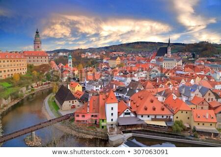Utca Csehország történelmi házak város központ Stock fotó © borisb17