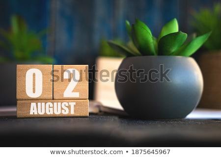 календаря август красный белый Сток-фото © Oakozhan