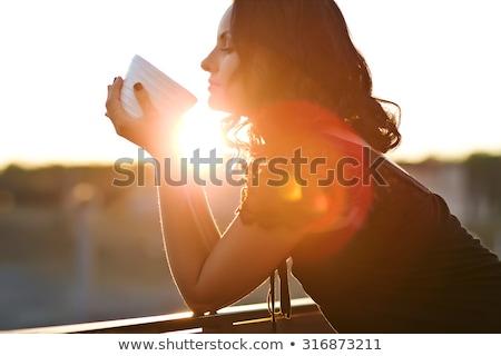 コーヒー 外 成熟した女性 ブレーク 晴れた 春 ストックフォト © jsnover