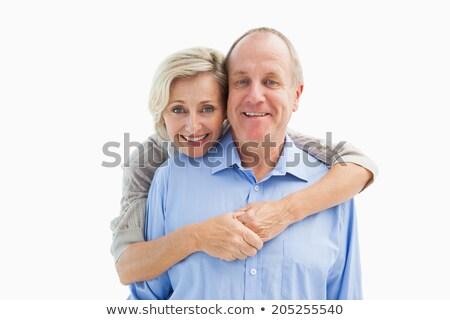 Elöl kilátás aktív idős pár áll másfelé néz Stock fotó © wavebreak_media