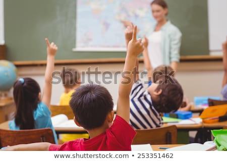 öğretmen işaret harita sınıf kız Stok fotoğraf © wavebreak_media