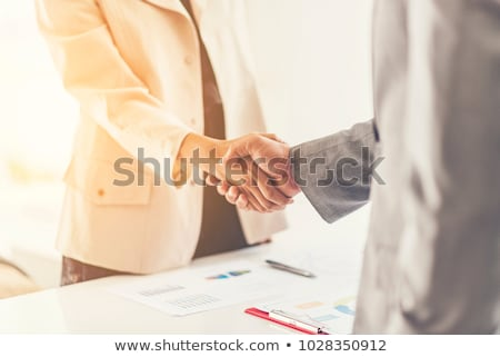 Business People Shaking Hands In Meeting Room Stock photo © AndreyPopov