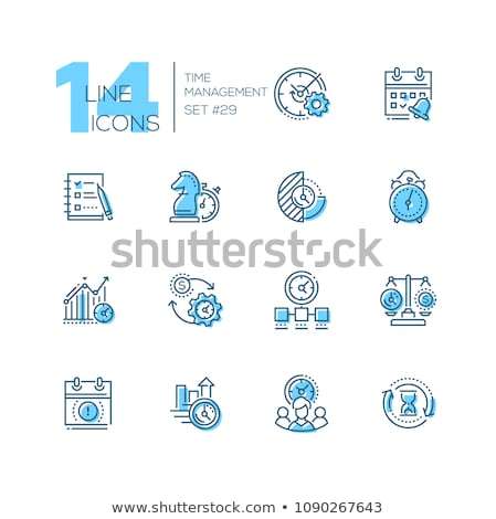 business strategy   line design style icons set stock photo © decorwithme