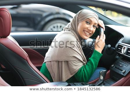 小さな 女性 ドライバ 新しい車 ストックフォト © Lopolo