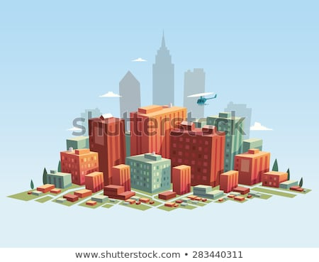 Сток-фото: City Buildings - Modern Vector Colorful Isometric Elements