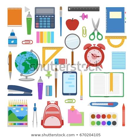 карандашом · точилка · школы · оборудование · цвета · вектора - Сток-фото © pikepicture