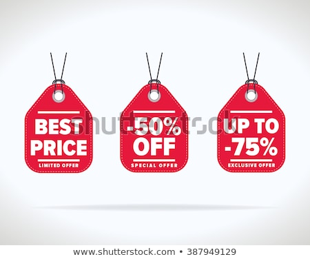set of colored label of discount and sale vector illustration stock photo © kup1984