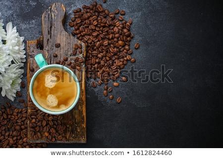 Cappucchino reggeli büfé kávéscsésze asztal brunch Stock fotó © Anneleven