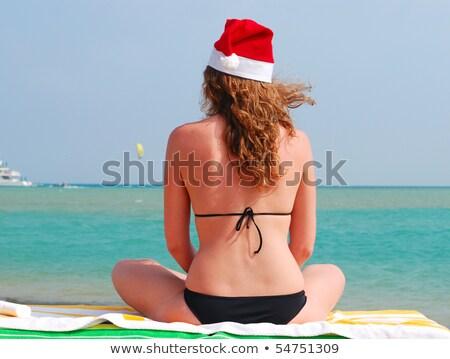 Natal seis praia areia conchas Foto stock © Illia