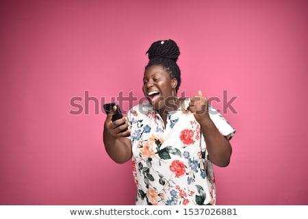 nő · telefonál · telefonkagyló · szőke · nő · utca · nő · szem - stock fotó © microolga