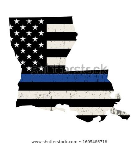 Louisiana policji wsparcia banderą ilustracja Zdjęcia stock © enterlinedesign