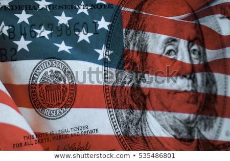 Federaal reserve symbool Verenigde Staten vlag Stockfoto © nomadsoul1