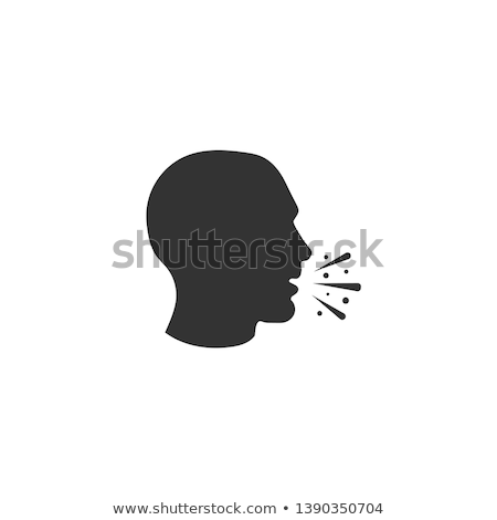 Human Coughing Icon Vector Outline Illustration Stock photo © pikepicture