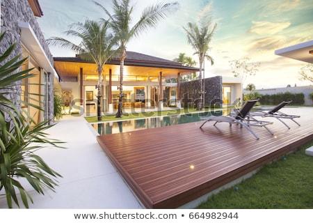 Modern lüks villa başvurmak bahçe Stok fotoğraf © ShustrikS