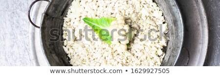 Szalag karfiol rizs fém tál szürke Stock fotó © Illia