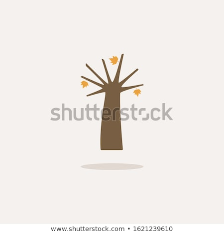 Acorn. Icon with shadow on a beige background. Autumn vector illustration Stock photo © Imaagio