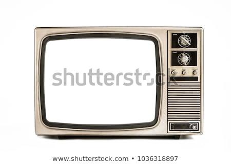 klasszikus · televízió · asztal · sarok · terv · technológia - stock fotó © koratmember