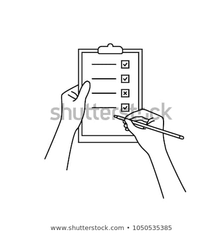 Voting Sheet with Pen Icon Vector Outline Illustration Stock photo © pikepicture