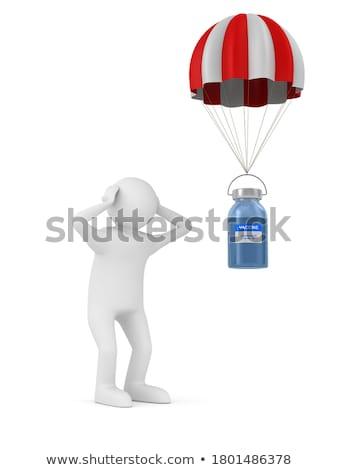 вирус парашютом белый изолированный 3D 3d иллюстрации Сток-фото © ISerg